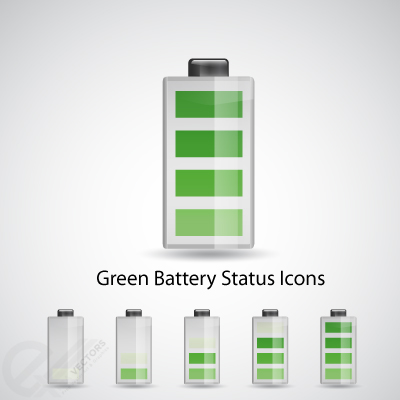 Green-Battery-status-icons