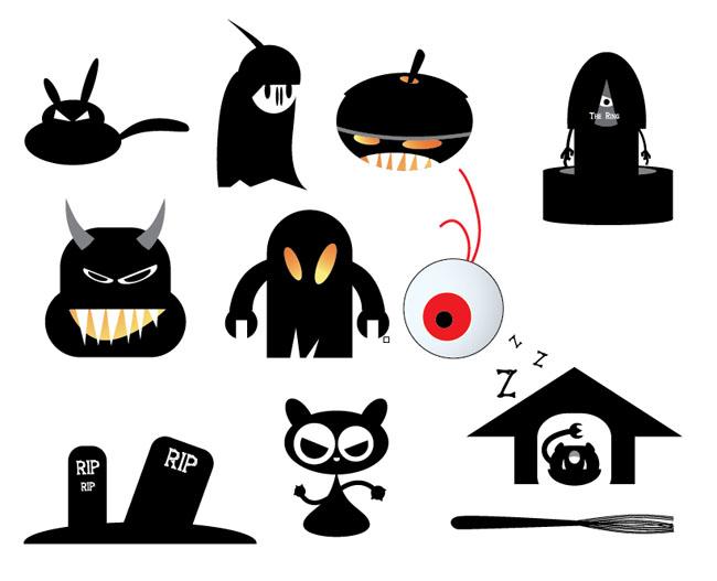 Halloween-Vector-Monsters