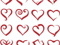 Set-Of-Sixteen-Icons-Of-Hearts