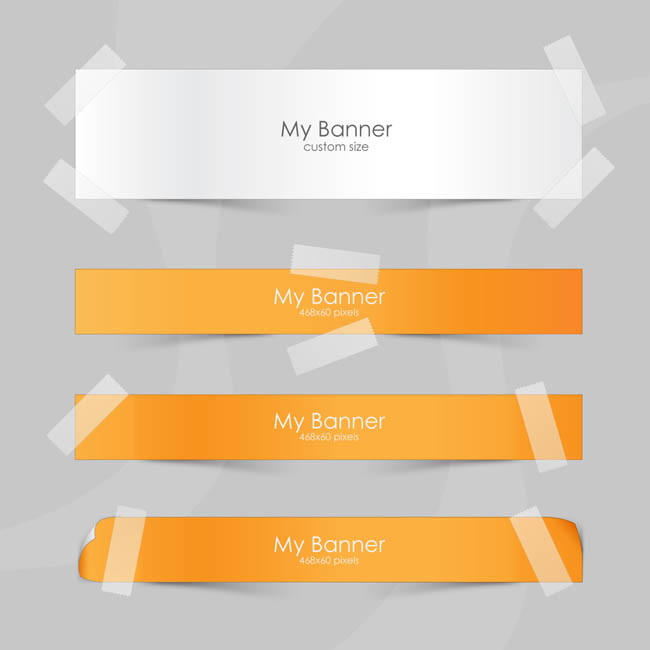 Style-Paper-Banners-Set