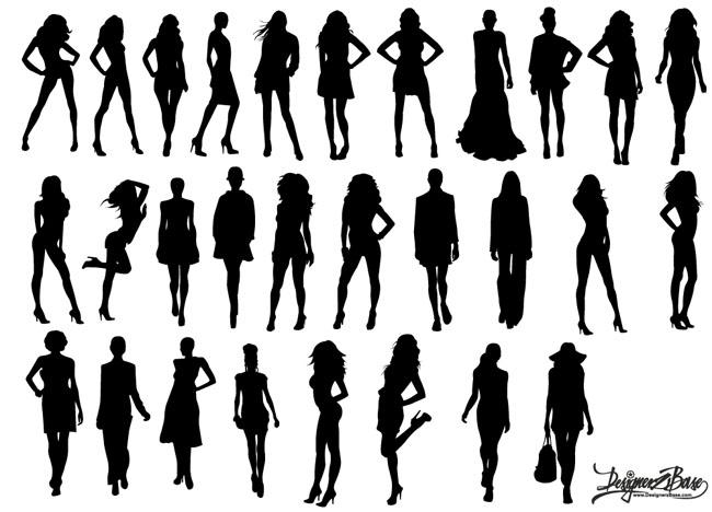 Vector-Fashion-Model-Silhouettes