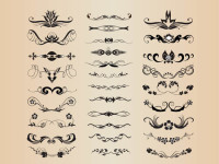 Vector-Set-of-Vintage-Ornaments-with-Floral-Elements