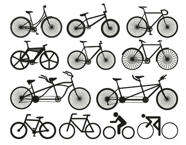 12-Free-Bicycle-Silhouette-Vectors