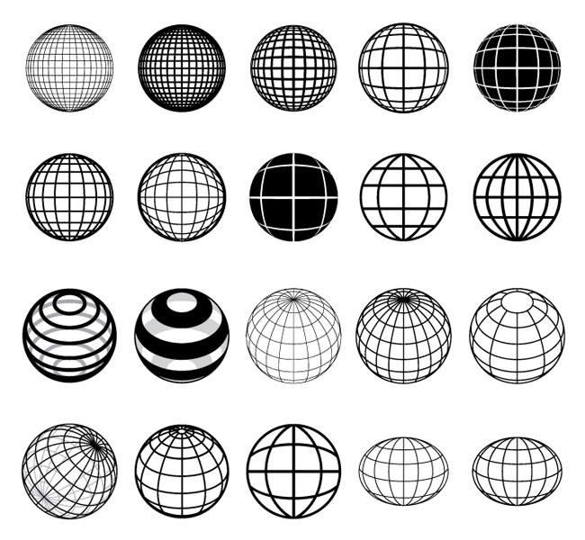 20-Vector-Globes
