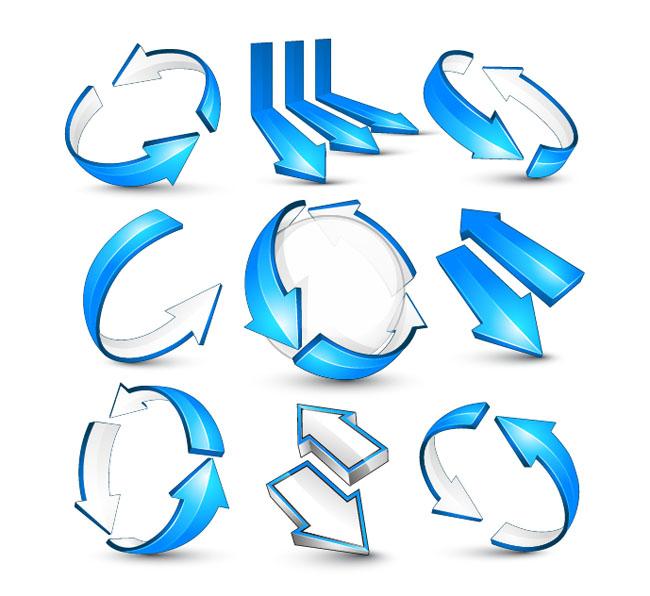 Blue-Arrow-Vectors