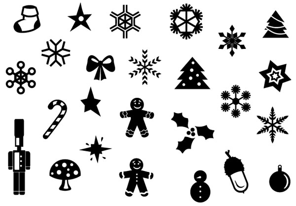 Christmas-minimal-icon-set