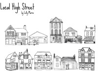 Free-Hand-Drawn-High-Street-Shops-Vector