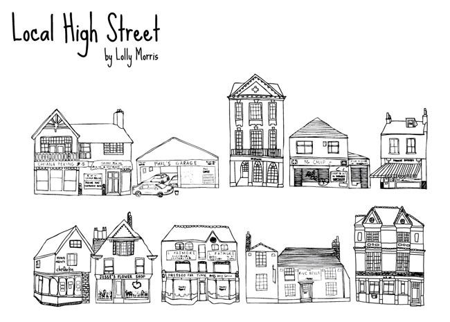 Free-Hand-Drawn-High-Street-Shops-Vector
