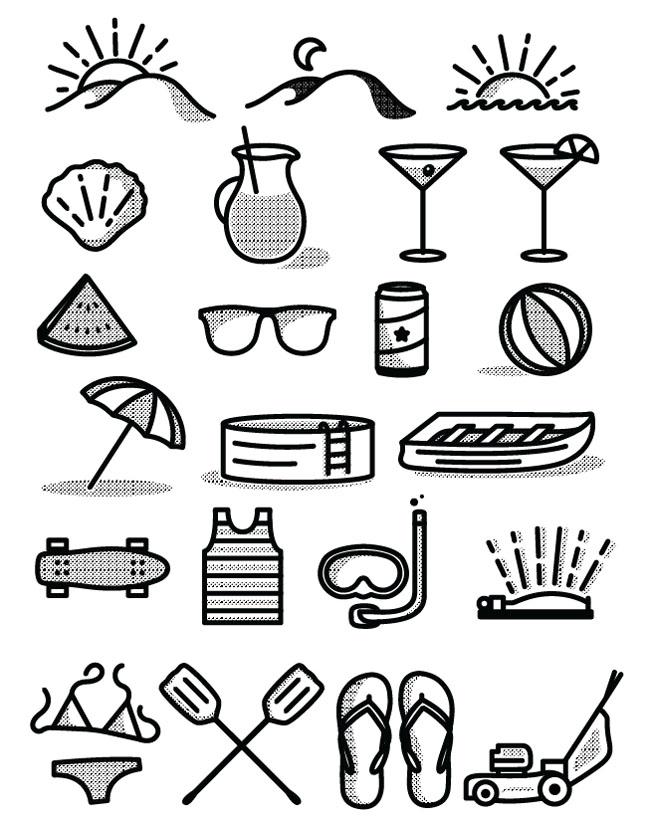 Free-Summer-Icon-Set