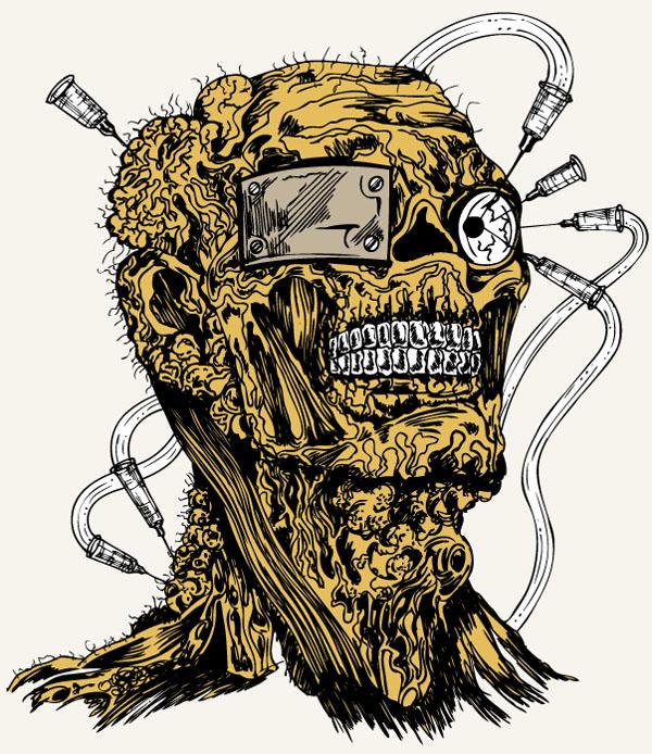 Free-Vector-Apparel-T-shirt-Design-Demon-Man