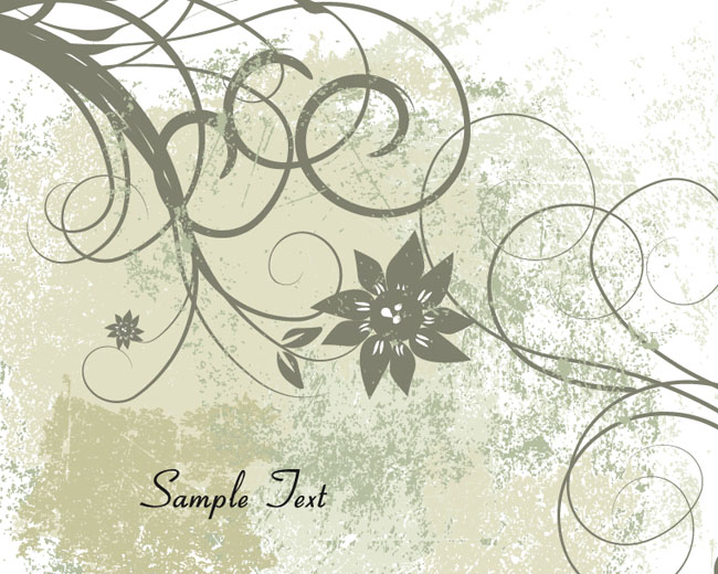 Free-Vector-Grunge-Floral-Background
