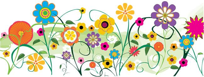 Free-Vector-Retro-Flowers
