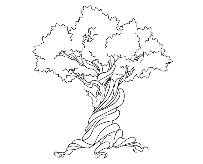 Free-Vector-Tree-Earth-Week