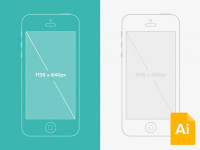 Illustrator-iPhone-5-Wireframe-Mockup