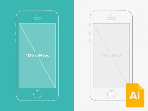 Illustrator-iPhone-5-Wireframe-Mockup