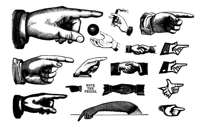 Retro-Hands-Vectors
