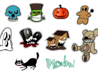 10-Halloween-Stickers-Set