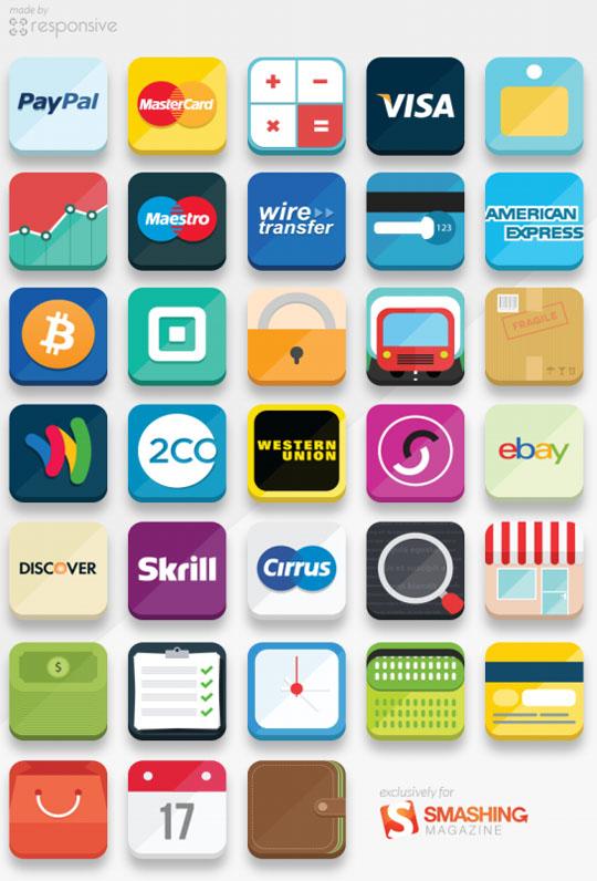 33-Flat-E-commerce-Icons
