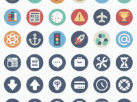 90-Beautiful-Flat-Icons
