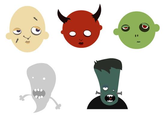 Free-Vector-Halloween-Heads