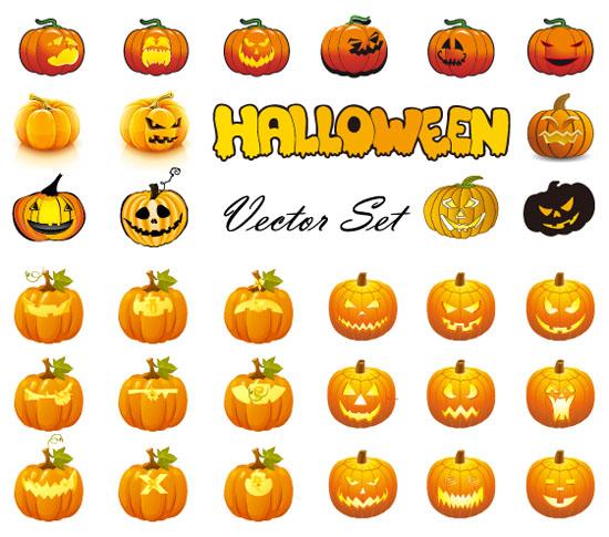 Halloween-Pumpkins-Mixed-Mega-Vector