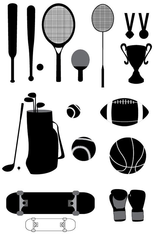 Sport-Stuffs-Vectors-Graphics