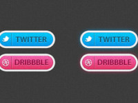 Twitter-and-Dribbble-Social-Buttons