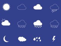 Web-Weather-Icons-Set