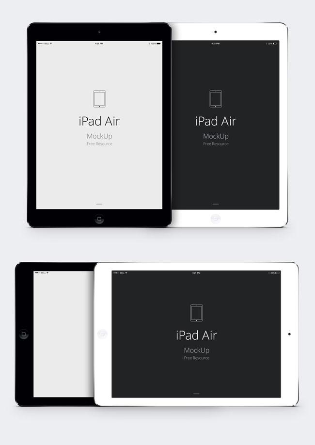iPad-Air-Psd-Vector-Mockup