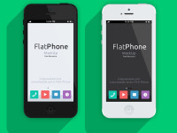 iPhone 5-Psd-Flat-Design-Mockup