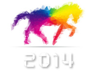 2014-Year-with-Colorful-Horse-Vector-Illustration