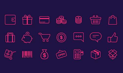 21-e-commerce-Icons-freebie