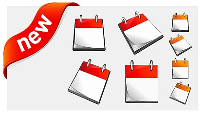 Calendar-and-new-decorative-icon-vector-material