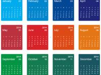 Colorful-Design-2014-Calendar-Vector