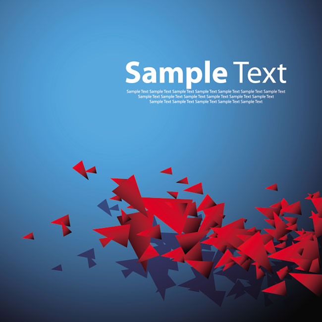 Red-blue-triangular-shapes-background