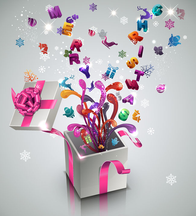 Stylish-New-Year-Gift-vector-background