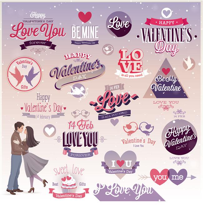 Romantic-Valentine-s-UI-Elements-Vector-Set