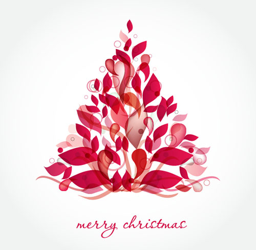 Abstract-Red-Christmas-Tree