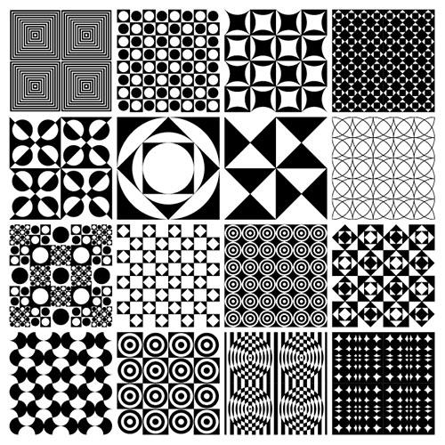 Monochrome-Panton-Patterns