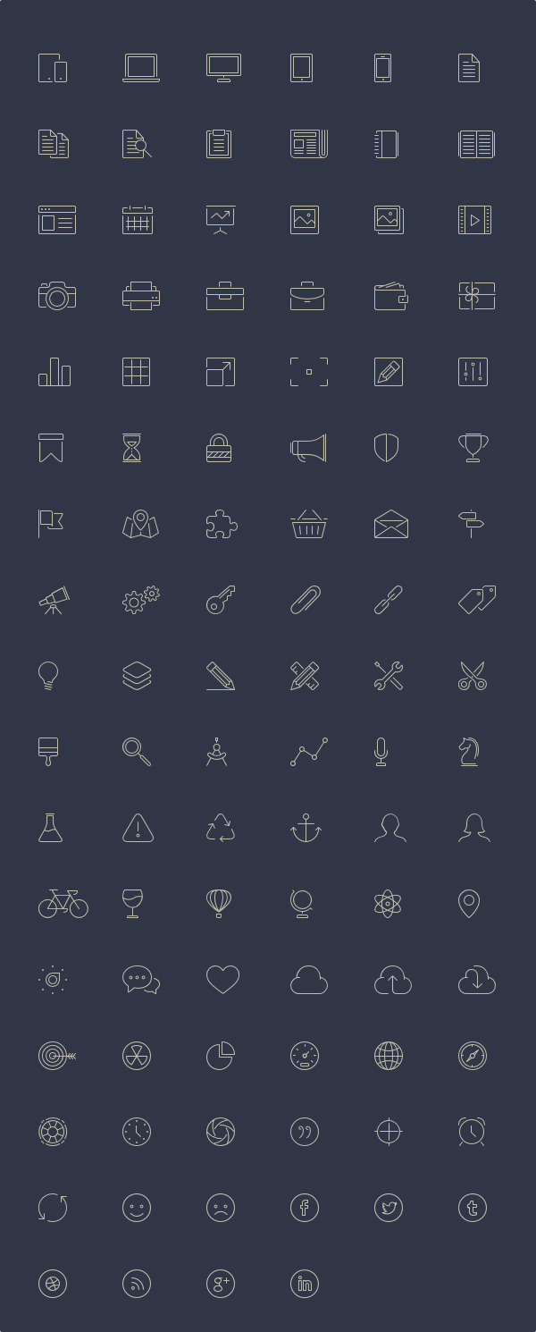 100-Free-Line-Style-Icons