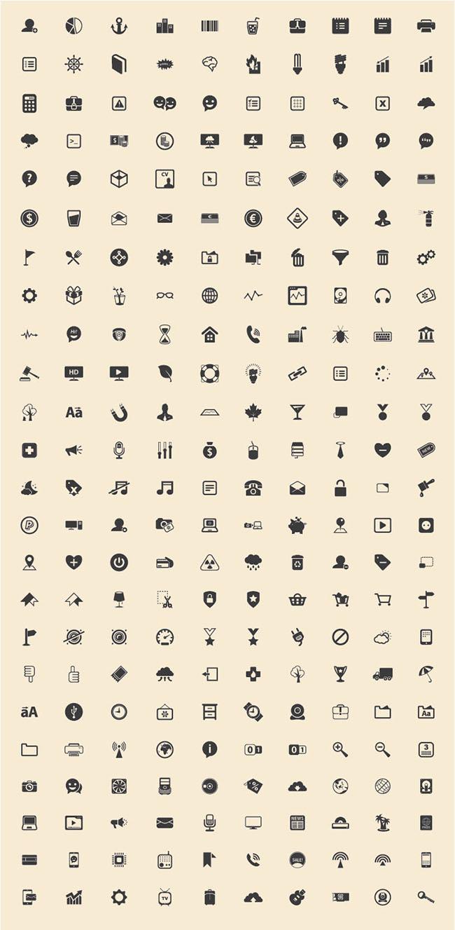 240-Basic-Icons-Vector-Freebie