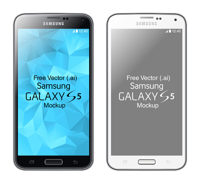 Black-and-White-Samsung-Galaxy-S5-Mockup