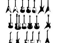 Guitar-types-vector-illustration
