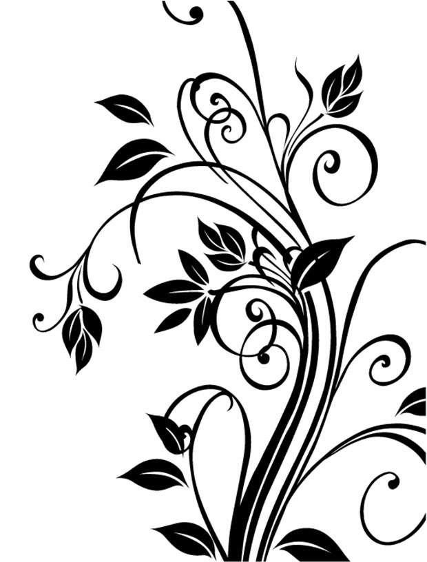 Vector-cdr-floral-Free-vector