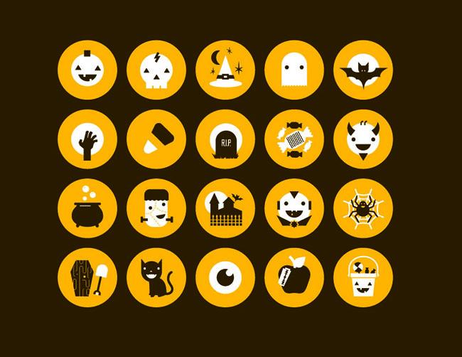20-Circle-Flat-Design-Halloween-Icons
