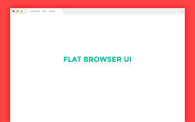 Flat-Browser-UI-Freebie