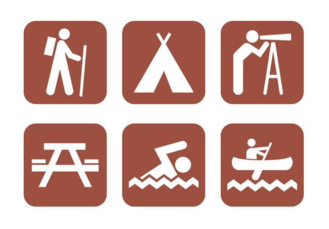 6-Vector-Campground-Icons
