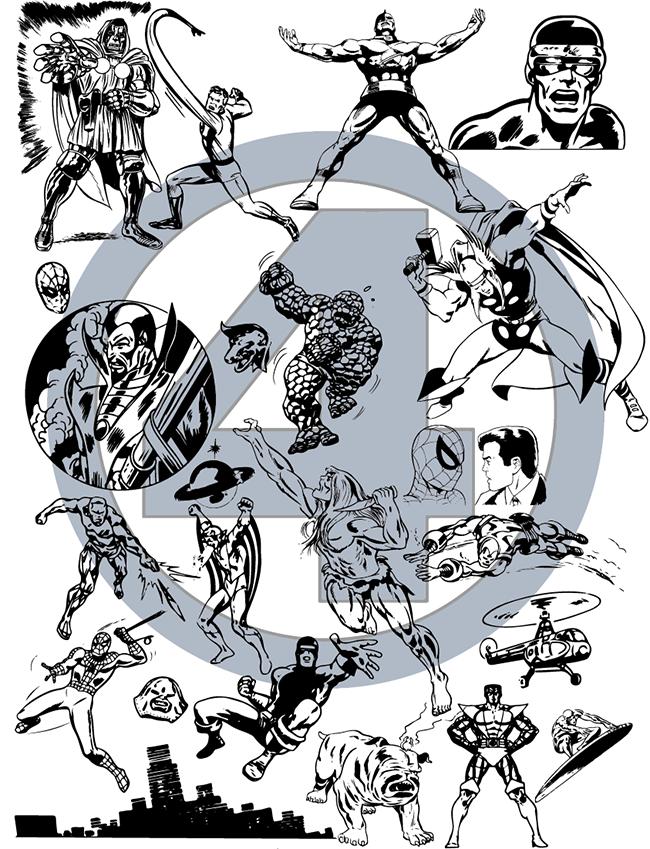 Super Heroes II vectors