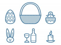 Free-Vector-Linear-Easter-Icon-set