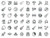 60-free-space-line-icons-for-iOS